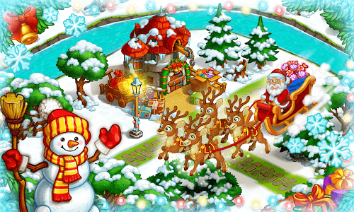 screenshot of Farm Snow: Happy Christmas Story With Toys & Santa version 1.63