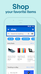 screenshot of Online Shopping - Buy, sell, and save with eBay version Varies with device