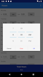screenshot of Hours - Hours Calculator version 1.1