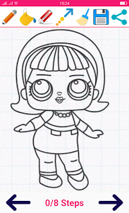 screenshot of How to draw Cute Surprise Dolls version 4