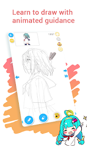 screenshot of How to draw anime & manga with tutorial - DrawShow version 5.0.0.0