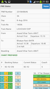 screenshot of Indian Railway Time Table version 2.0.22