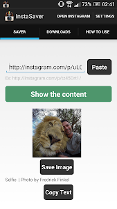 screenshot of Saver Reposter for instagram version 6.0
