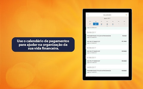 screenshot of Itaú para Tablets version 6.60.5