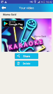 screenshot of Karaoke Sing and Record version 1.0.11