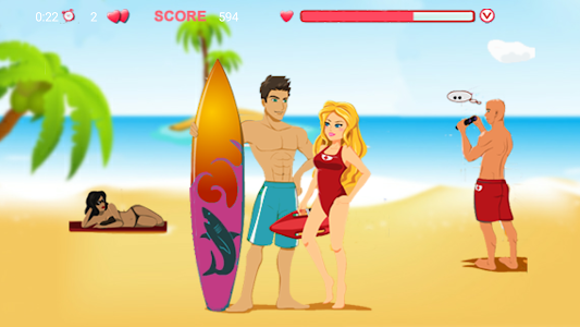 screenshot of Kiss on the Hawaii beach version 1.0.0