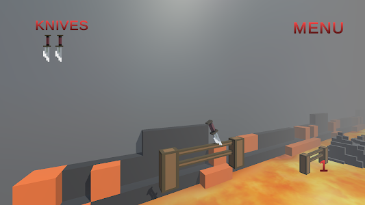 screenshot of Knife Throw version 0.1