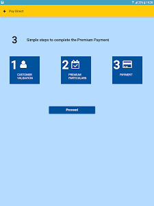 screenshot of LIC PayDirect version 1.0.5