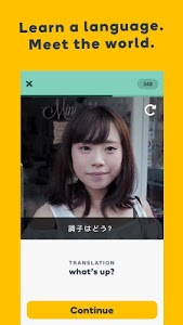 screenshot of Learn Languages with Memrise version Varies with device