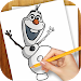 Learn to Draw Olaf Frozen