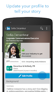 screenshot of LinkedIn version 3.4.9