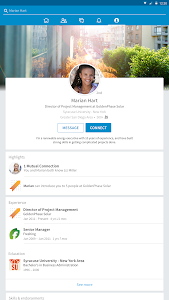 screenshot of LinkedIn version 4.1.1