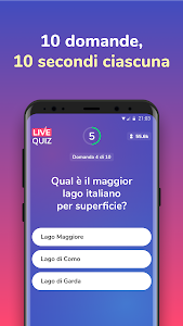 screenshot of Live Quiz - Vinci Soldi Veri version 1.1.1