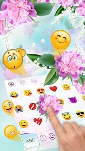 screenshot of Lovely Pink Orchid Flowers Keyboard version 10001004