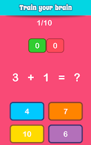 screenshot of Math Games, Learn Add, Subtract, Multiply & Divide version 5.52