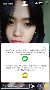 screenshot of MILLIARD.TV LIVE - Follow, Paid Likes & Video Call version 7.7.4