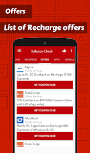 screenshot of App for Recharge & Balance Check version 3.5