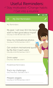screenshot of My Diet Coach - Weight Loss Motivation & Tracker version Varies with device