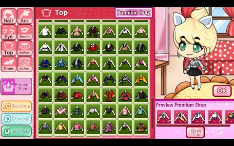 screenshot of My Pretty Girl Story : Dress Up Game version 1.6.3