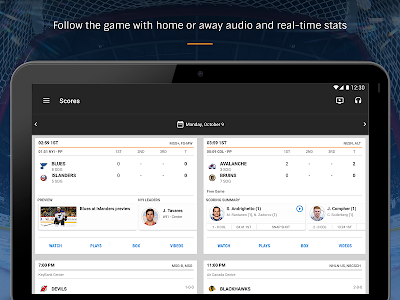 screenshot of NHL version Varies with device