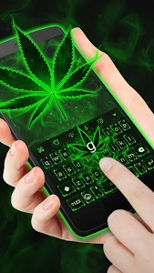 screenshot of Neon Green Rasta Weed Keyboard Theme for Android version v2.0