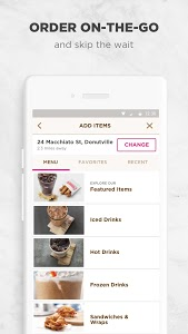 screenshot of Dunkin' Donuts version 6.3.1