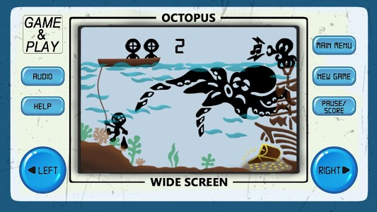 screenshot of OCTOPUS 80s Arcade Games version 1.1.3