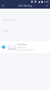 screenshot of OV2 Alarm version 1.4.6