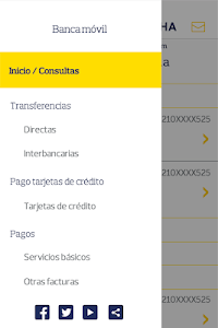 screenshot of PICHINCHA BANCA MÓVIL version 5.7