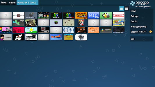 screenshot of PPSSPP - PSP emulator version 1.9.4