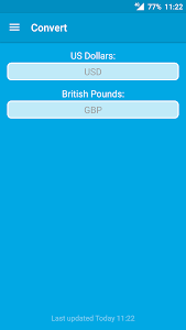 screenshot of Pounds To Dollars (GBP To USD) version 1.2