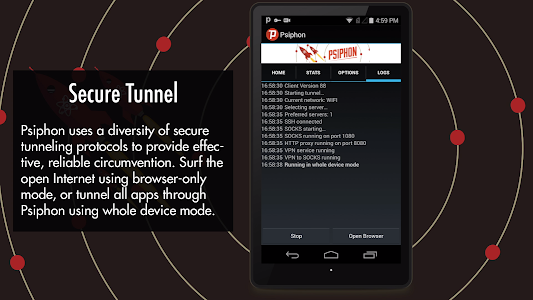 screenshot of Psiphon Pro - The Internet Freedom VPN version Varies with device
