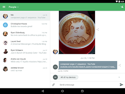 screenshot of Pushbullet - SMS on PC and more version 18.3.0