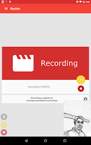 screenshot of RecMe Free Screen Recorder version 2.5.7c