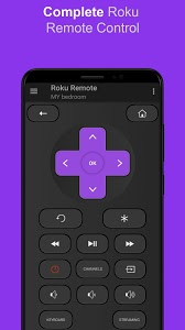 screenshot of Roku Remote Control: RoSpikes (WiFi+IR) version 1.14
