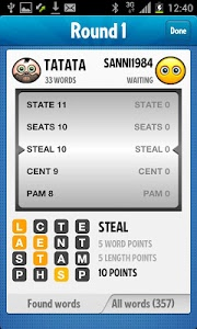 screenshot of Ruzzle Free version 1.7.2