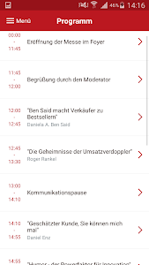 screenshot of Speakers Excellence Events version 2.47.1