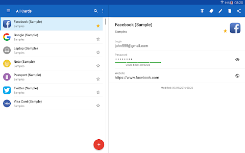 screenshot of Password Manager SafeInCloud version Varies with device