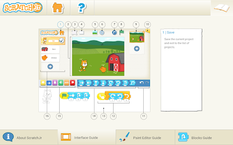 screenshot of ScratchJr version Varies with device
