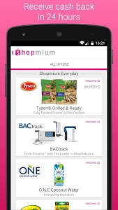 screenshot of Shopmium - Exclusive Offers version 4.3.0