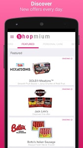 screenshot of Shopmium - Exclusive Offers version 4.8.2