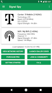 screenshot of Signal Spy - Monitor Signal Strength & Data Usage version 1.9.9.8