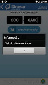 screenshot of Sinesp Cidadão version 4.5.1