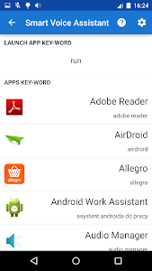screenshot of Smart Voice Assistant version Varies with device