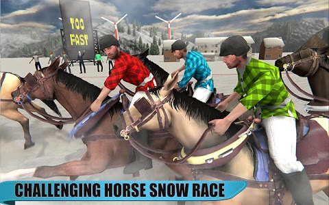 screenshot of Snow Racing 2019: Horse, Cars, Snowmobile Race version 1.0