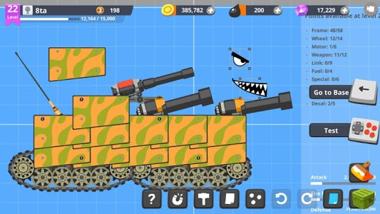 screenshot of Super Tank Rumble version 3.8.1