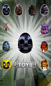 screenshot of Surprise Eggs Freddy's Five Toys version 2.0