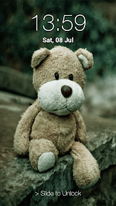 screenshot of Teddy Bear Pin Lock Screen version 3.1