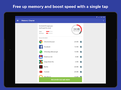 screenshot of The Cleaner - Speed up & Clean version 1.8.10