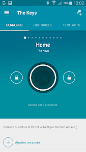 screenshot of The Keys smartlock version 1.12.0